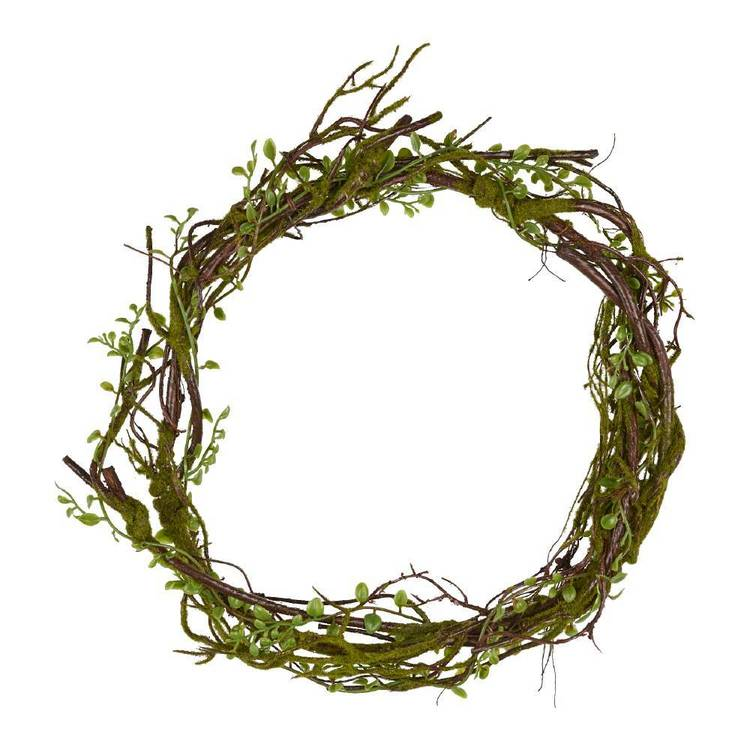Branch Wreath with Leaves