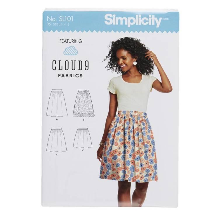 Simplicity SL101 Misses Skirt Pattern