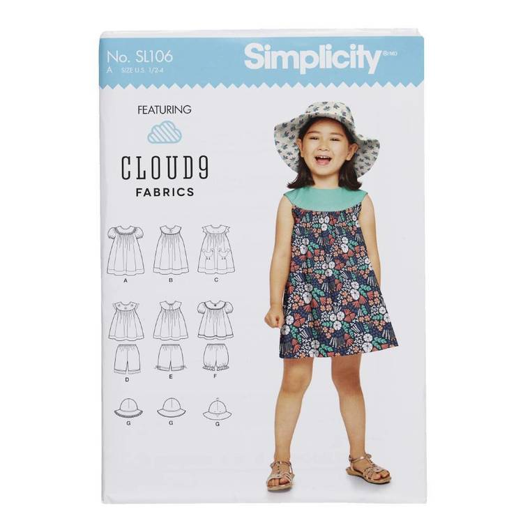 Simplicity SL106 Girls Outfit Pattern