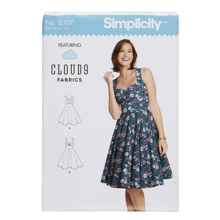 Simplicity SL107 Women's and Misses Dress Pattern