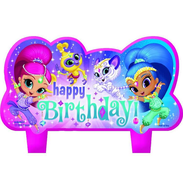 Amscan Shimmer & Shine Birthday Candle Set 4 Pack