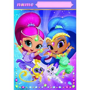 Amscan Shimmer & Shine Folded Loot Bags 8 Pack