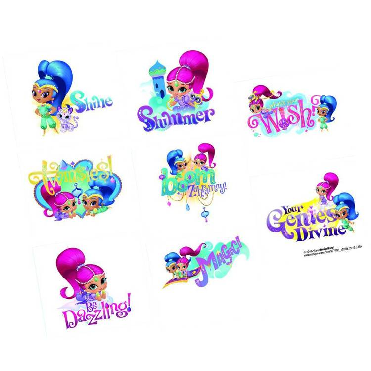 Amscan Shimmer & Shine Tattoo Favours 8 Pack