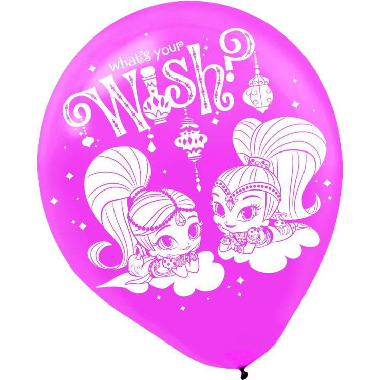 Amscan Shimmer & Shine Latex Balloons 6 Pack