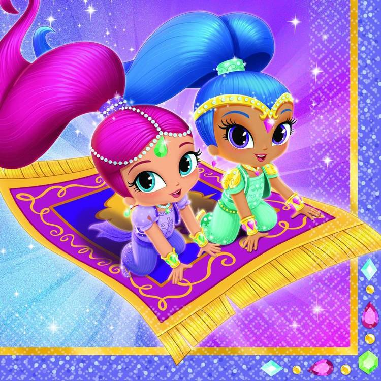 Amscan Shimmer & Shine Lunch Napkins 16 Pack