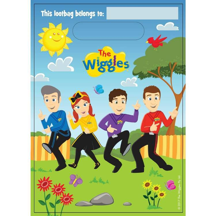 The Wiggles Loot Bags 8 Pack