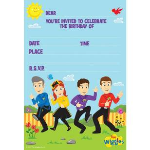 The Wiggles Invitations 8 Pack