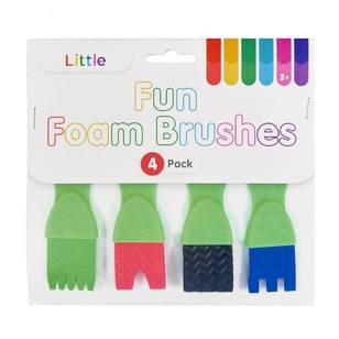Little 4 Pack Fun Foam Brushes