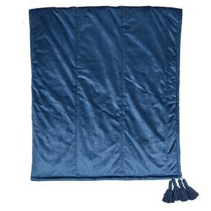 KOO Elite Bailey Quilted Teal Throw