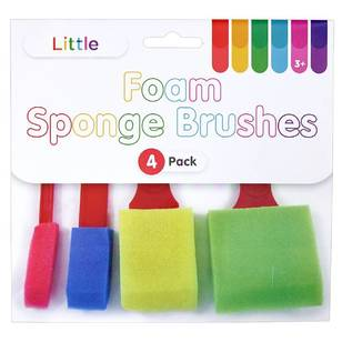 Little 4 Pack Foam Sponge Brushes