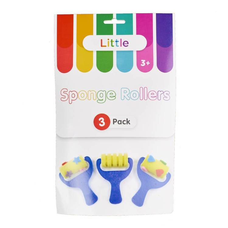 Little 3 Pack Sponge/ Pattern Rollers