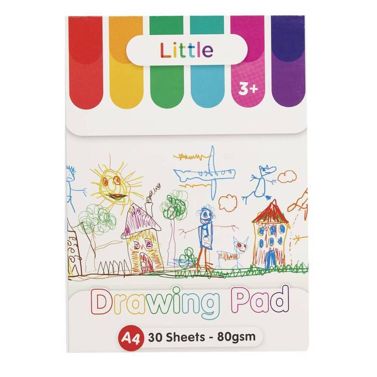 Little A4 80 gsm Drawing Pad White A4