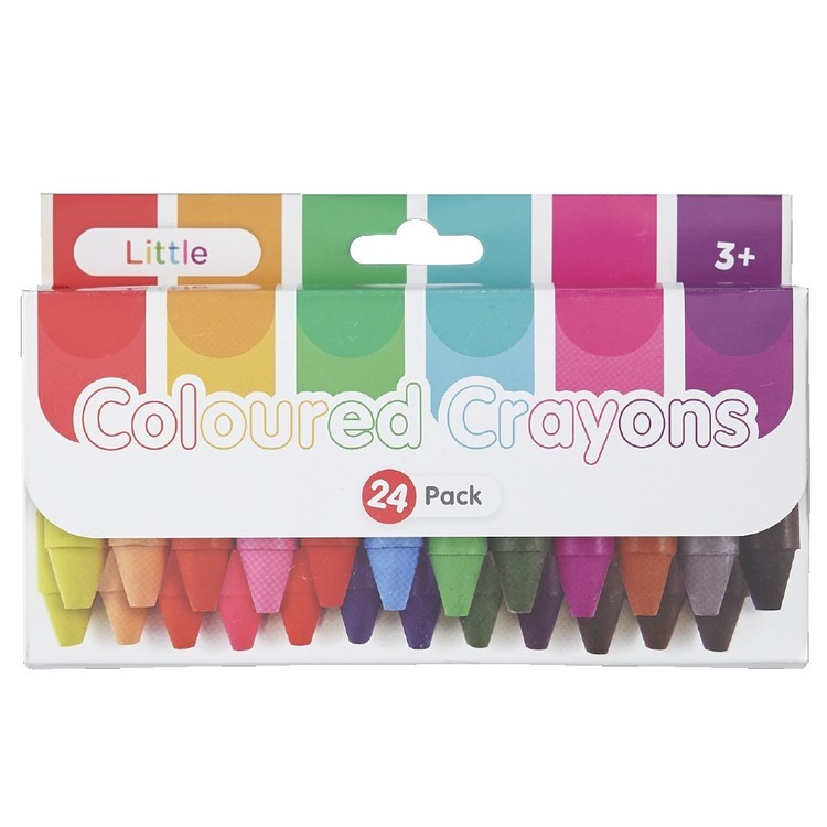 Little 24 Pack Crayons Multicoloured