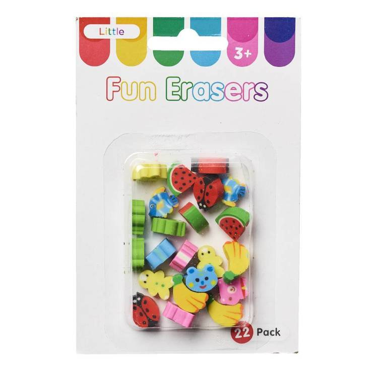 Little Erasers Pack In Box With Header Multicoloured