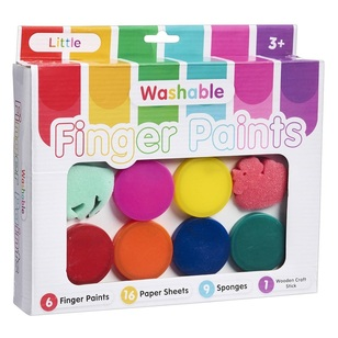 Little Washable Finger Paint Set With Mat
