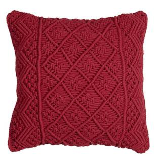 Living Space Shelley Macrame Filled Cushion