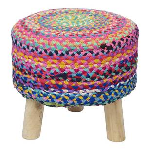 Living Space Colourful Chindi Footstool