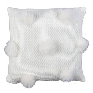 Living Space Fluffy Pom Pom Filled Cushion