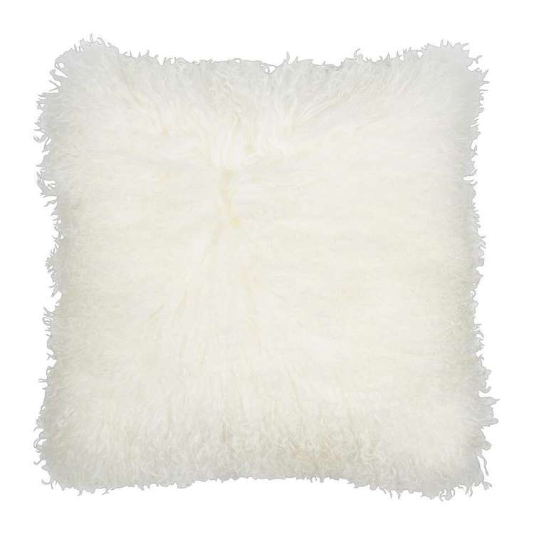 Living Space Mongolian Fur Cushion