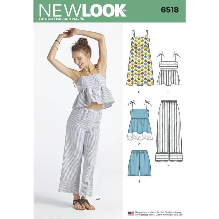New Look Pattern 6518 Misses' Dress