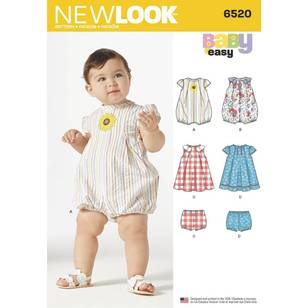 New Look Pattern 6520 Babies' Romper and Dress with Panties