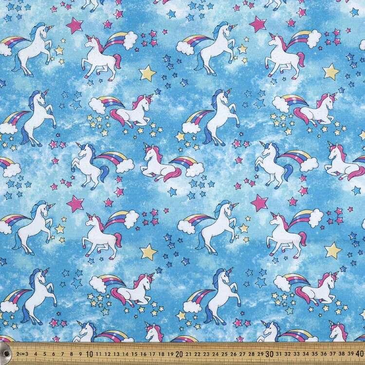 Unicorn Printed Poplin Fabric
