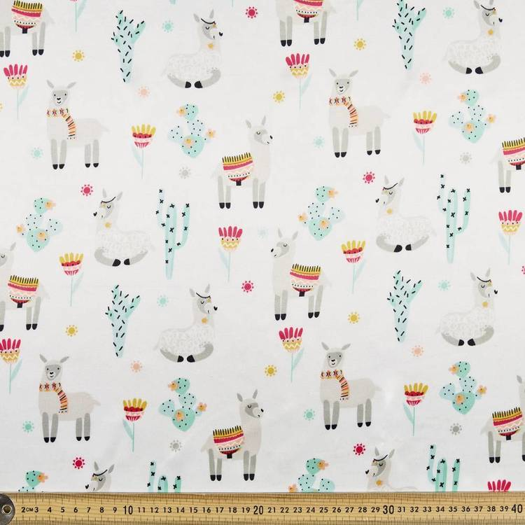Lama Printed Novelty Satin Multicoloured 148 cm