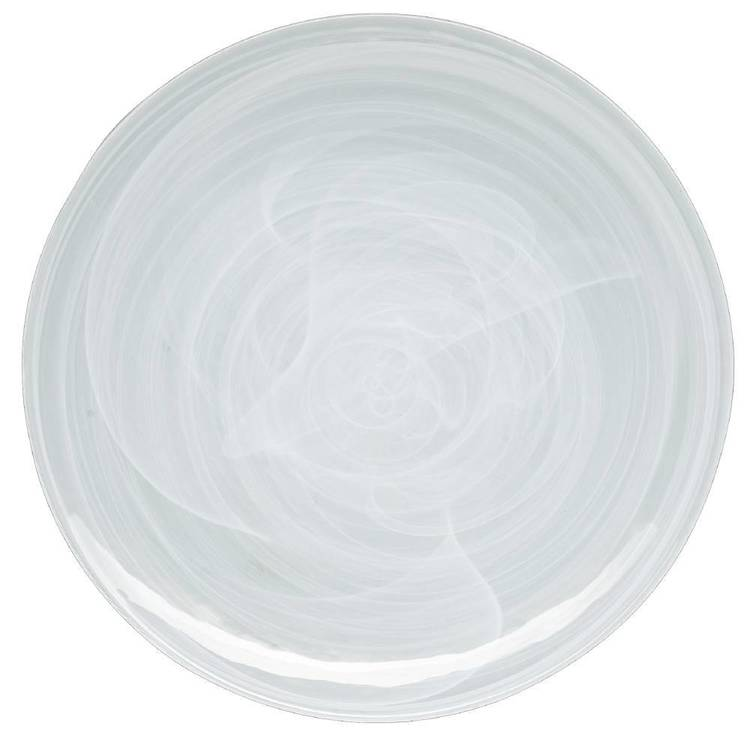 Casa Domani Cirrus Glass Coupe Dinner Plate