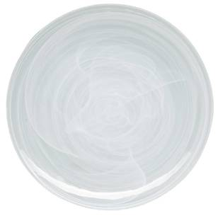 Casa Domani Cirrus Glass Coupe Dinner Plate
