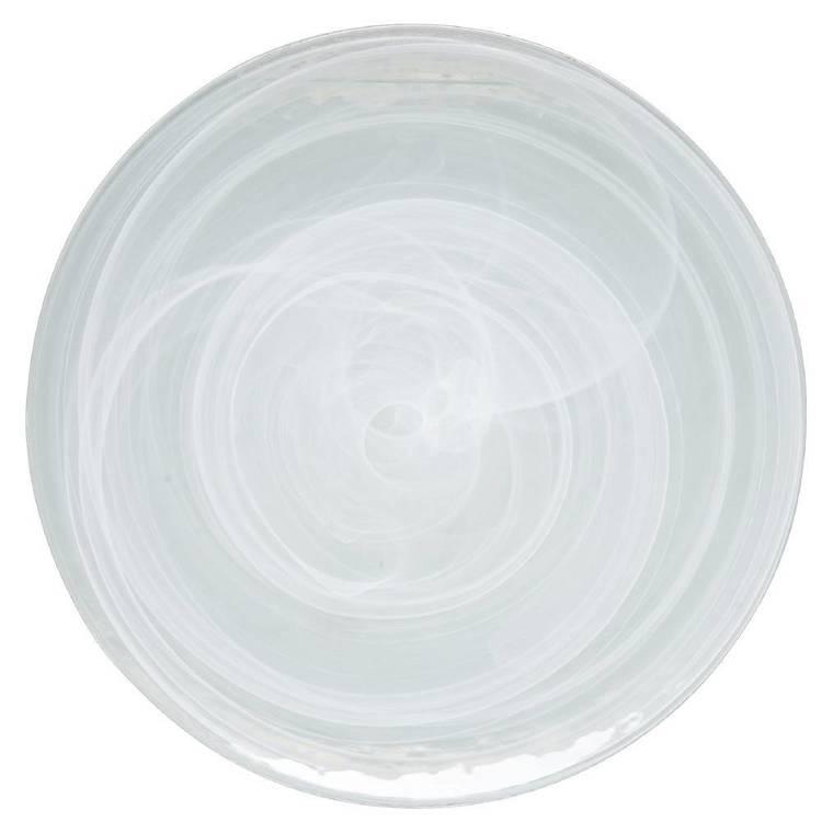 Casa Domani Cirrus Glass Coupe Platter
