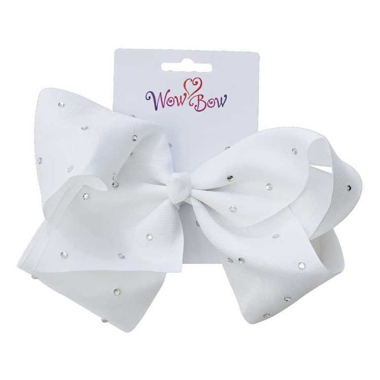 Wow Bow Bow Clip with Acrylic Stones