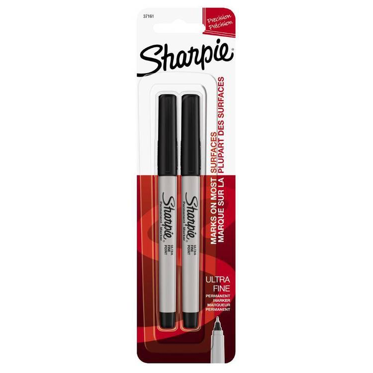 Sharpie Ultra Fine Black 2 pack