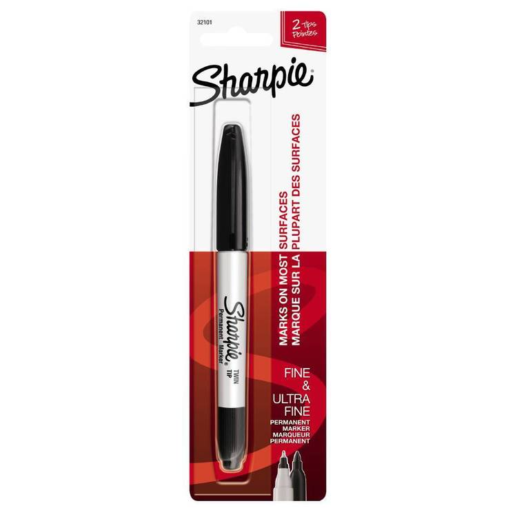 Sharpie Black Twin Marker Black
