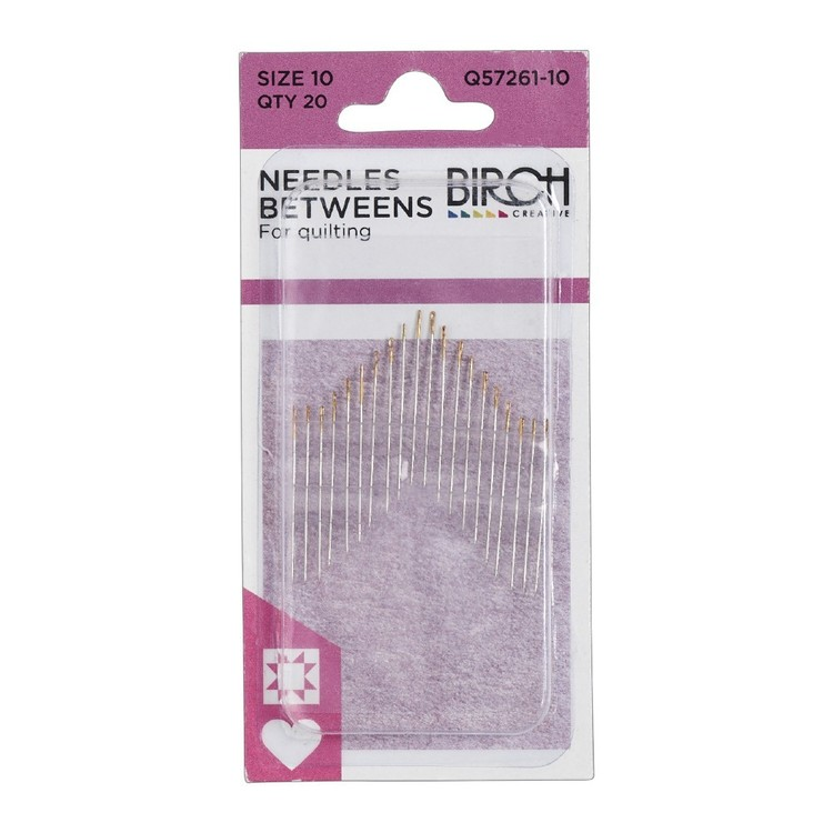Birch Creative Betweens Quilting Needles Size 10