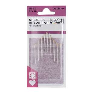 Birch Creative Betweens Quilting Needles Size 9