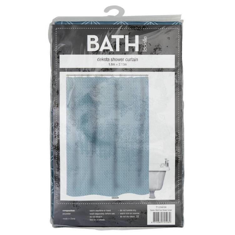 Bath By Ladelle Dekota 180X213cm Shower Curtain