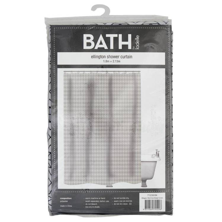 Bath By Ladelle Ellington 180X213cm Shower Curtain