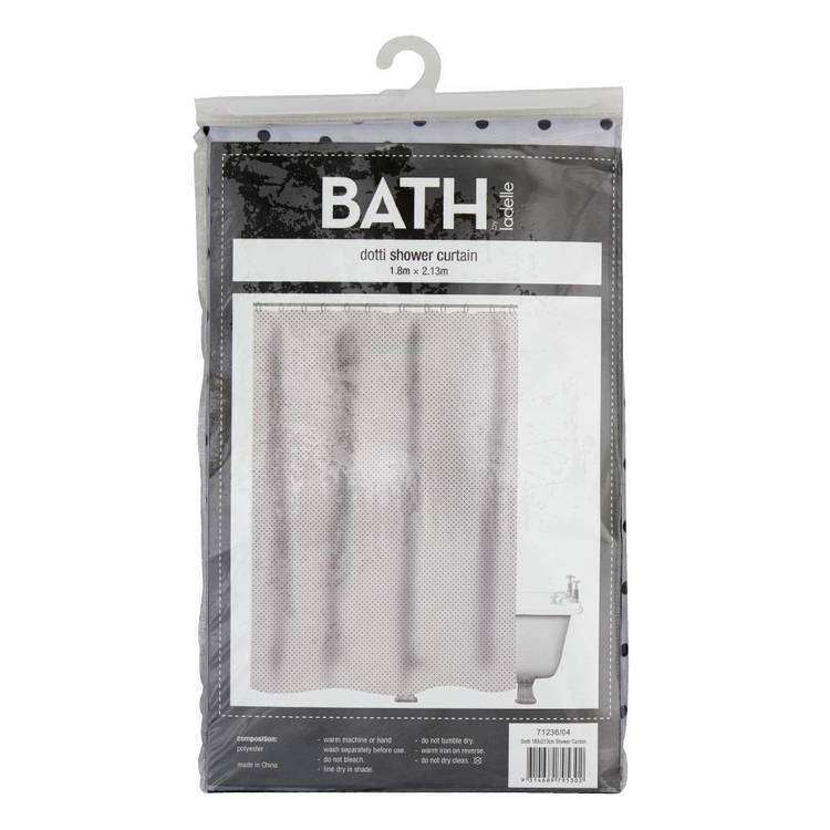 Bath By Ladelle Dotti180X213cm Shower Curtain