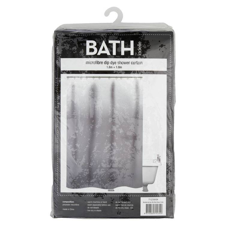 Bath By Ladelle Dip Dye 180X180cm Shower Curtain
