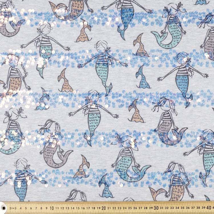 Mermaid Printed Cotton Jersey