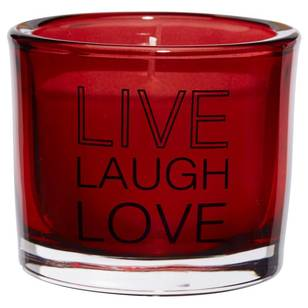 Bouclair Refined Red Live Laugh Love Candle
