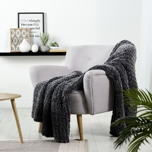 Living Space Faux Rabbit Throw