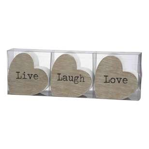 Emporium Live Laugh Love Heart Sculptures