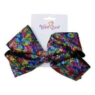 Wow Bow Sequin Ibis Clip Bow