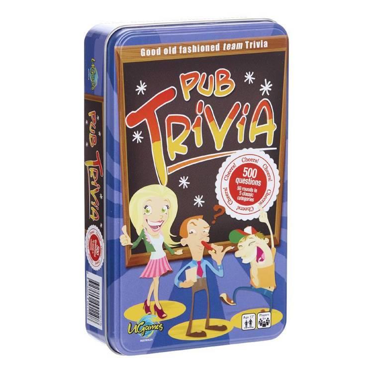 Pub Trivia Novelty Tin