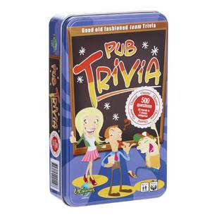 Pub Trivia Novelty Tin
