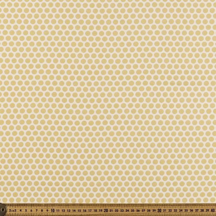 Dots Printed Birch 100% Organic Cotton Fabric