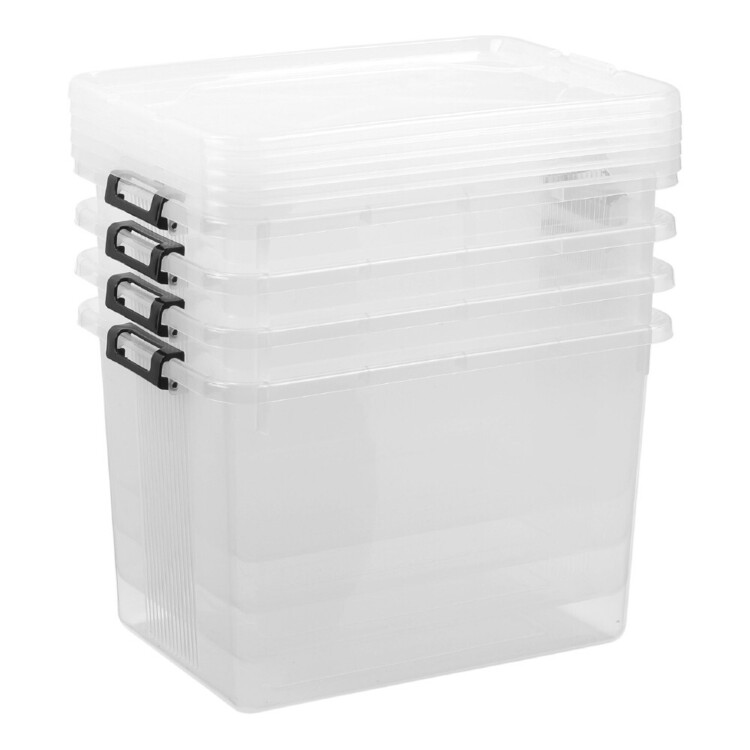 Lock Stock & Barrel Set of 4 20L Storage Box