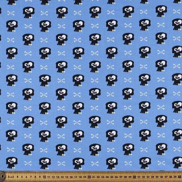 Skull Printed Cotton Spandex Fabric