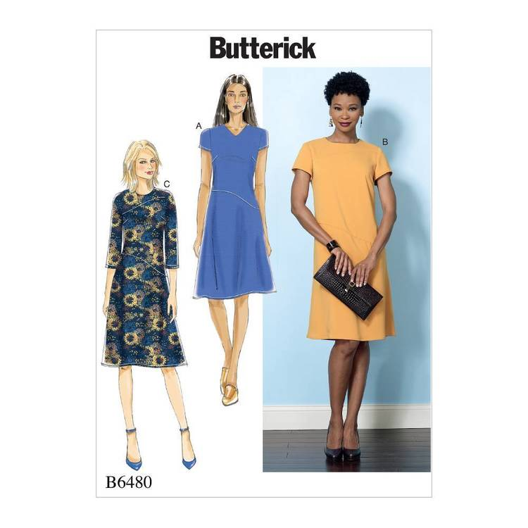 Butterick Pattern B6480 Misses' Dresses with Hip Detail